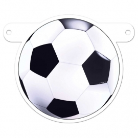 Banner symbool voetbal