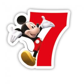 Disney Mickey Mouse 2D 7e verjaardag taart kaars
