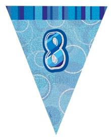Vlaggenlijn blue glitter 8 jaar 2,74 mtr.