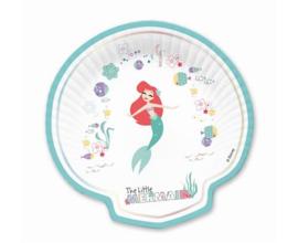 Disney Ariel schelp bordjes Under The Sea 25,5 x 25,5 cm. 4 st.