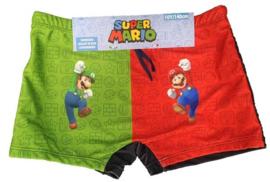Super Mario en Luigi Bros zwembroek zwart mt. 104