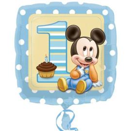 Disney Baby Mickey Mouse 1e verjaardag folieballon 43 cm.