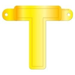 Banner letter T geel