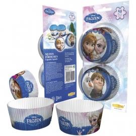Disney Frozen cupcake vormpjes blauw 50 st.