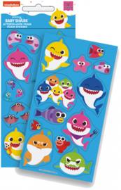 Baby Shark foam stickervel A per stuk