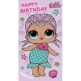LOL Surprise verjaardagskaart happy birthday (uitklapbaar)