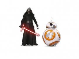 Star Wars Kylo Ren en BB8 hangdecoratieset 30 cm.