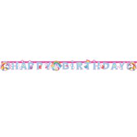 Eenhoorn happy birthday slinger 1,8 mtr.