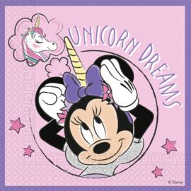 Disney Minnie Mouse servetten Unicorn Dreams 33 x 33 cm. 20 st.