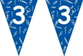 Vlaggenlijn blauw 3 jaar 5 mtr.
