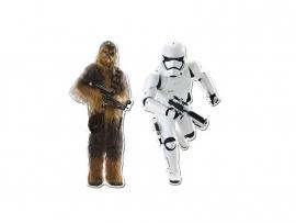 Star Wars Stormtrooper en Chewbacca hangdecoratieset 30 cm.