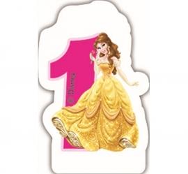 Disney Princess Belle 1e verjaardagskaars 6 cm.