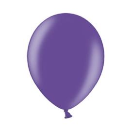 Ballon metallic paars ø 30 cm. 10 st. (Belbal)