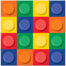 Lego Block Party servetten 32,7 x 32,3 cm. 16 st.
