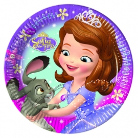 Disney Sofia the First Pearl of the Sea gebakbordjes ø 19,5 cm. 8 st.