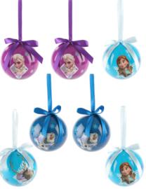 Disney Frozen kerstbal 7,5 cm. 7 st. cadeaubox