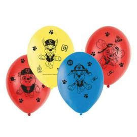 Paw Patrol ballonnen ø 27,5 cm. 6 st.