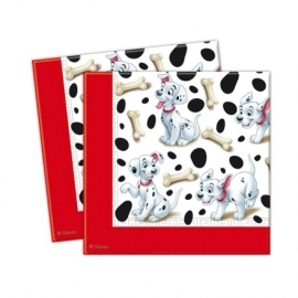 Disney Dalmatiërs servetten 33 x 33 cm. 20 st.