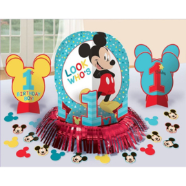Disney Mickey Mouse 1e verjaardag tafeldecoratie