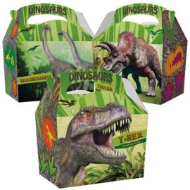 Dinosaurus traktatie doosje 15 x 10 x 15 cm. p/stuk