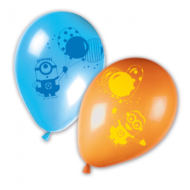 Minions balloons party ballonnen ø 28 cm. 8 st.