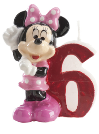 Disney Minnie Mouse Clubhouse 6e verjaardagskaars 3D