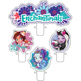 Enchantimals taart kaarsjes set