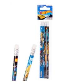 Hot Wheels uitdeel potloden 4 st.