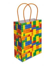 Lego Block Party traktatie tasje 16 x 22 x 9 cm.