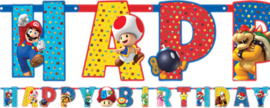 Super Mario Bros leeftijd slinger happy birthday 3,2 mtr.