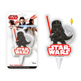 Star Wars taart kaars Darth Vader 2D 7 cm.