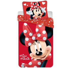 Disney Minnie Mouse dekbedovertrek Miss Minnie 140 x 200 cm.