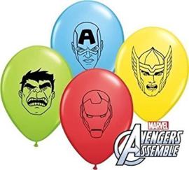 Avengers Assemble face ballonnen ø 12 cm. 10 st.