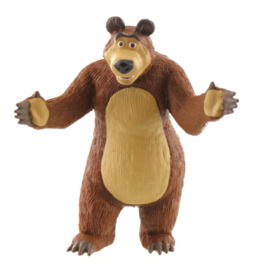 Masha and the Bear taar topper decoratie - Bear 8 cm.