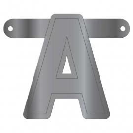 Banner letter A metallic zilver