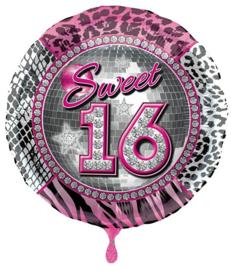 Sweet Sixteen folieballon ø 43 cm.