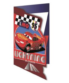 Disney Cars wenskaart Lightning McQueen (blanco)