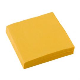 Servetten geel 25 x 25 cm. 20 st.