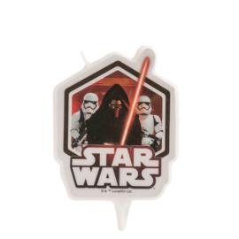 Star Wars taart kaars 2D 7,5 cm.