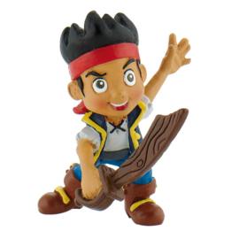 Disney Jake  en de Nooitgedachtland piraten met zwaard taart topper 6 cm.