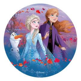 Disney Frozen 2 ouwel taart decoratie ø 20 cm. F