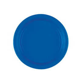 Bright Royal Blue wegwerp gebak- dessert bordjes ø 17,8 cm. 8 st.