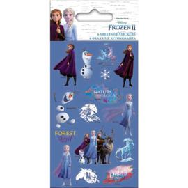 Disney Frozen 2 uitdeel stickervel 12,5 x 7,5 cm. 6 st.