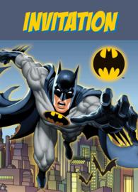 Batman uitnodigingen 8 st.