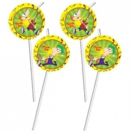 Disney Phineas and Ferb rietjes 6 st.
