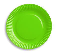 Lime groene wegwerp party gebaksbordjes ø 18 cm. 6 st.