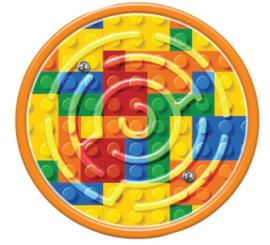 Lego Bricks mini doolhof puzzel p/stuk