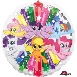 My Litle Pony folieballon Gang ø 43 cm.