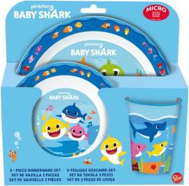 Baby Shark ontbijtset 3-delig