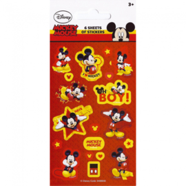 Disney Mickey Mouse uitdeel stickervel 6 st.